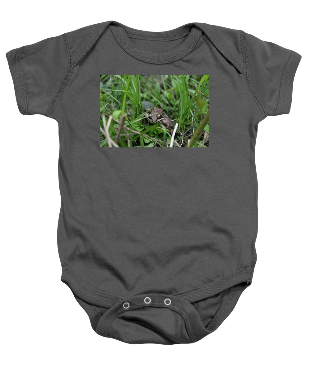 Frog Portrait Baby Onesie featuring the photograph Anura by Neal Eslinger