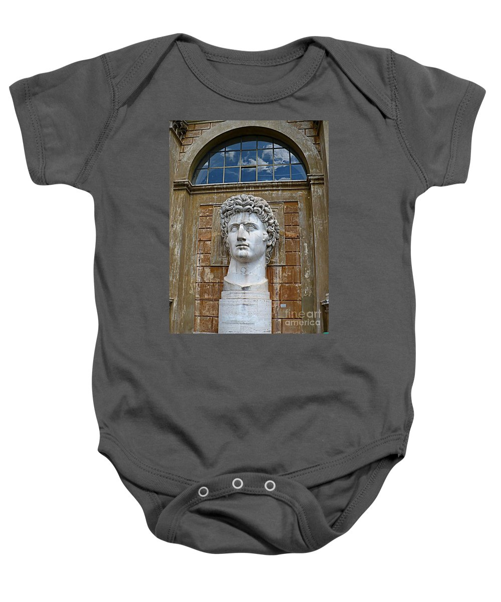 Apollo Baby Onesie featuring the photograph Apollo Statue At The Vatican by Carol Groenen