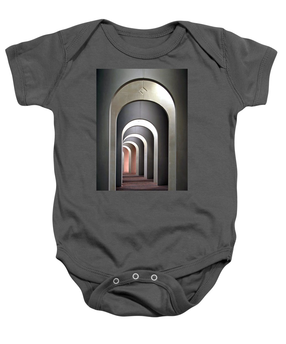 Architecture Baby Onesie featuring the photograph Arches by Marcia Colelli