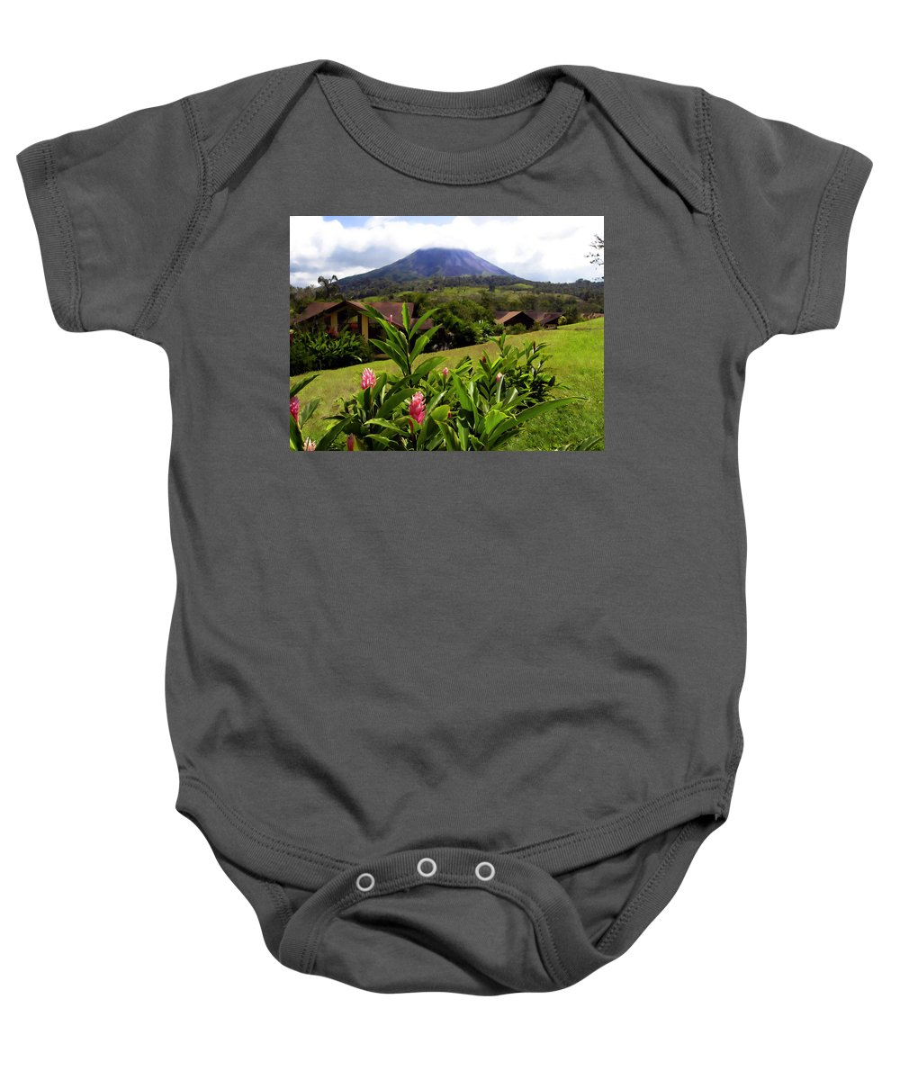 Tropical Baby Onesie featuring the photograph Arenal Costa Rica by Kurt Van Wagner
