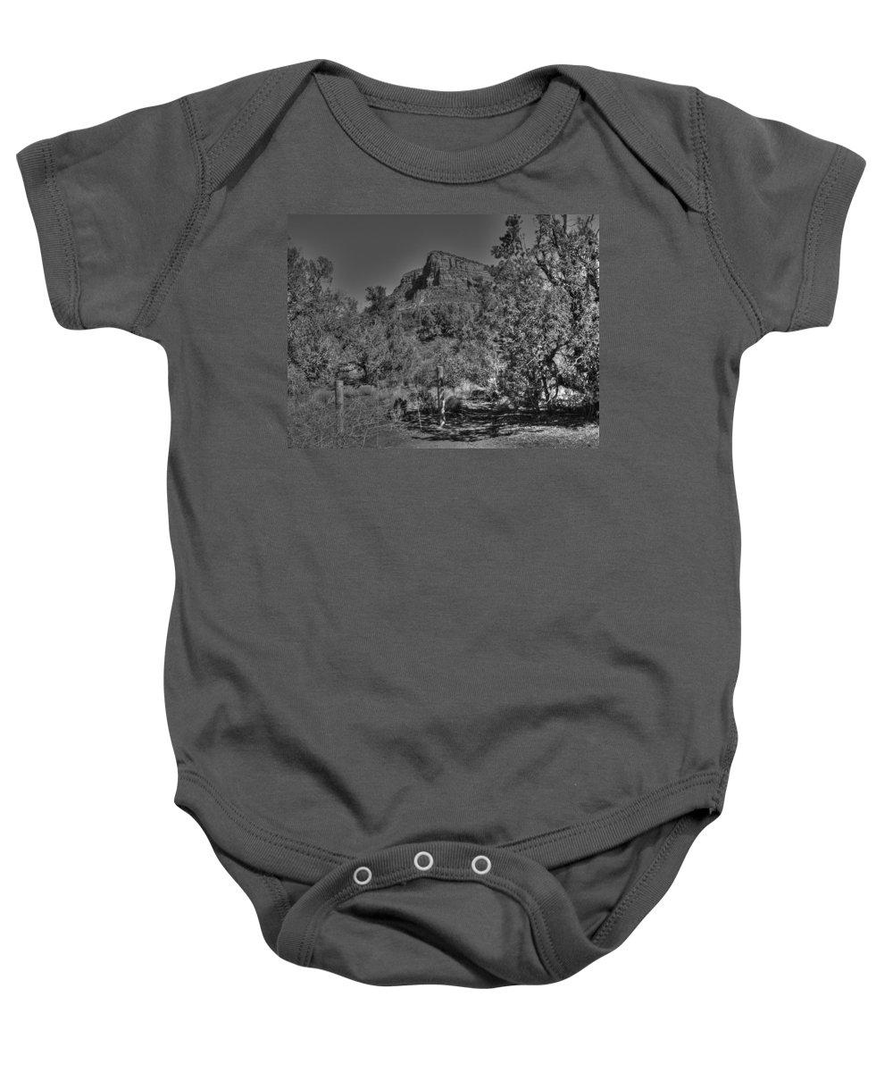 Arizona Baby Onesie featuring the photograph Arizona Bell Rock Valley N11 by John Straton