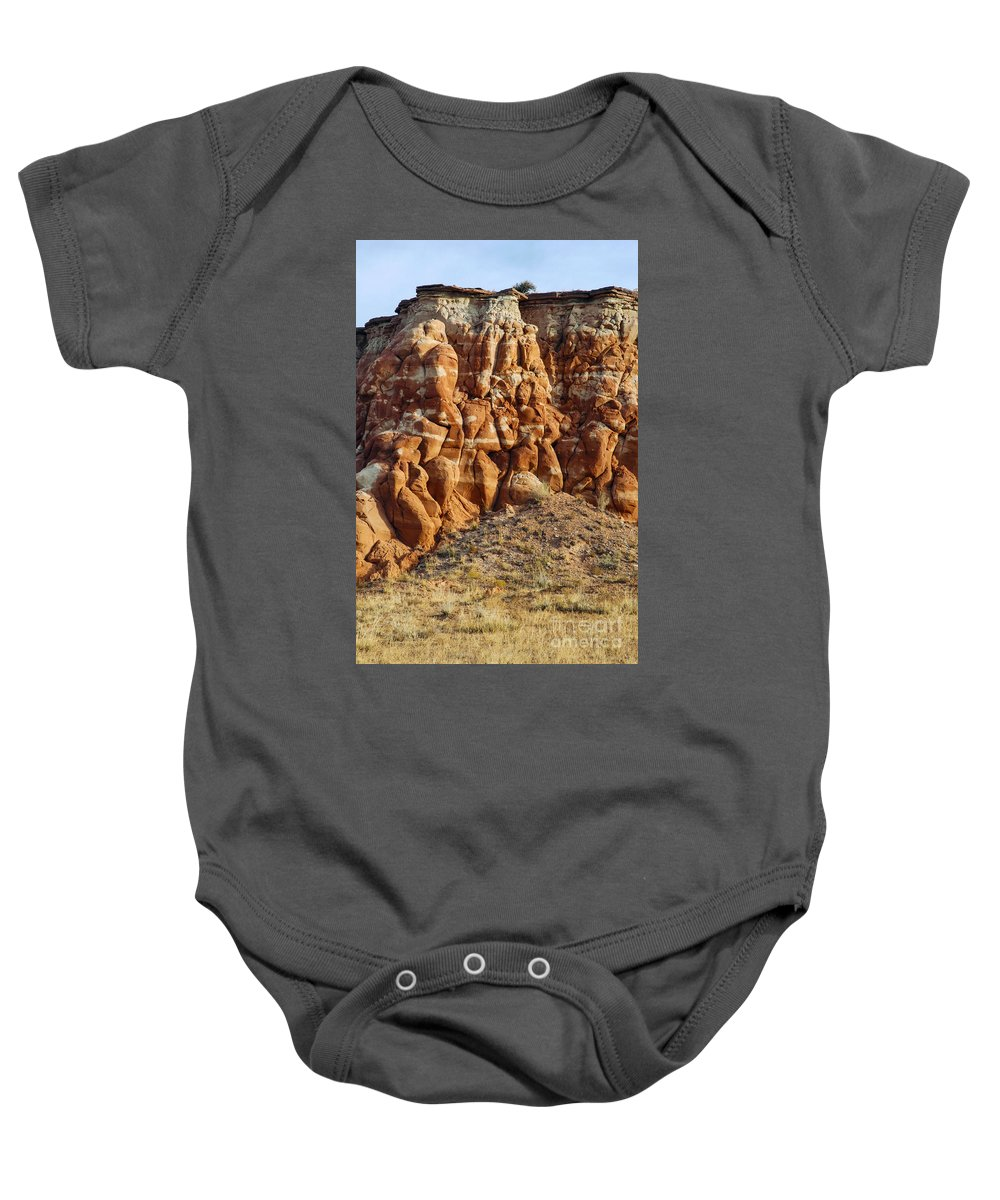 Arizona Sandstone Rock Formation Rocks Baby Onesie featuring the photograph Arizona Rock Formation by Bob Phillips