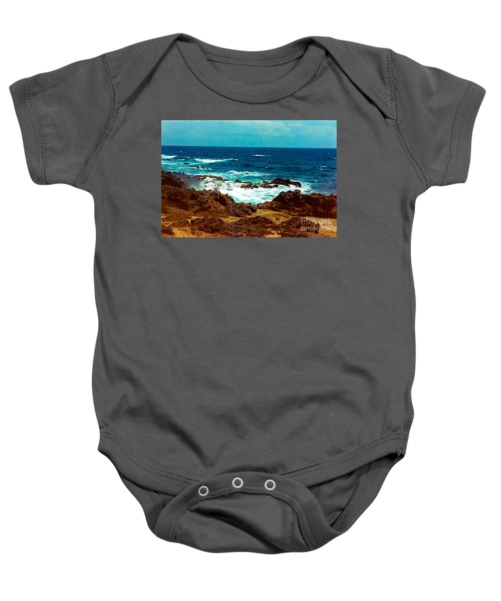 Aruba Baby Onesie featuring the photograph Aruba's Wild Side by Anita Lewis