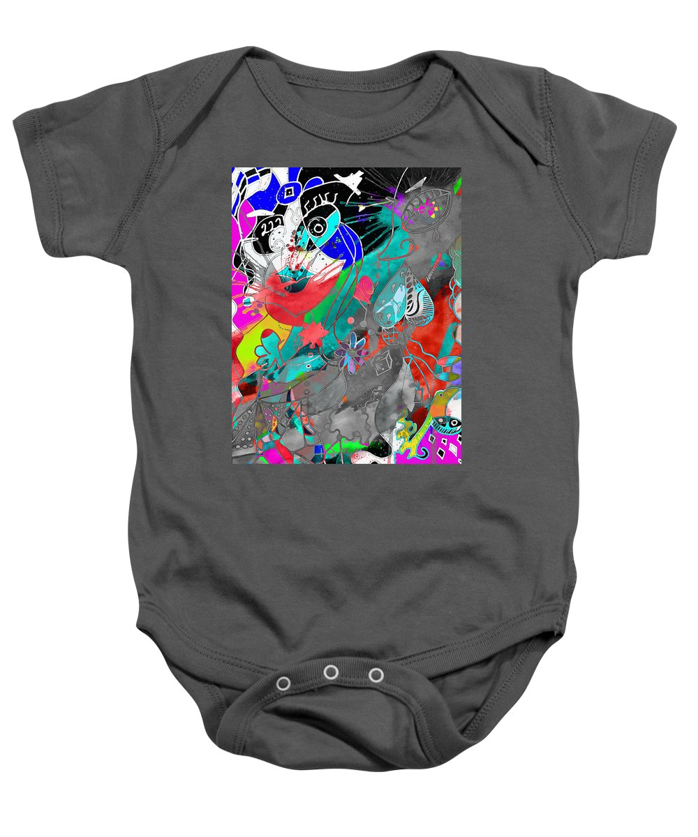 Abstract Baby Onesie featuring the photograph Attributes Of Aggression Three by The Artist Project