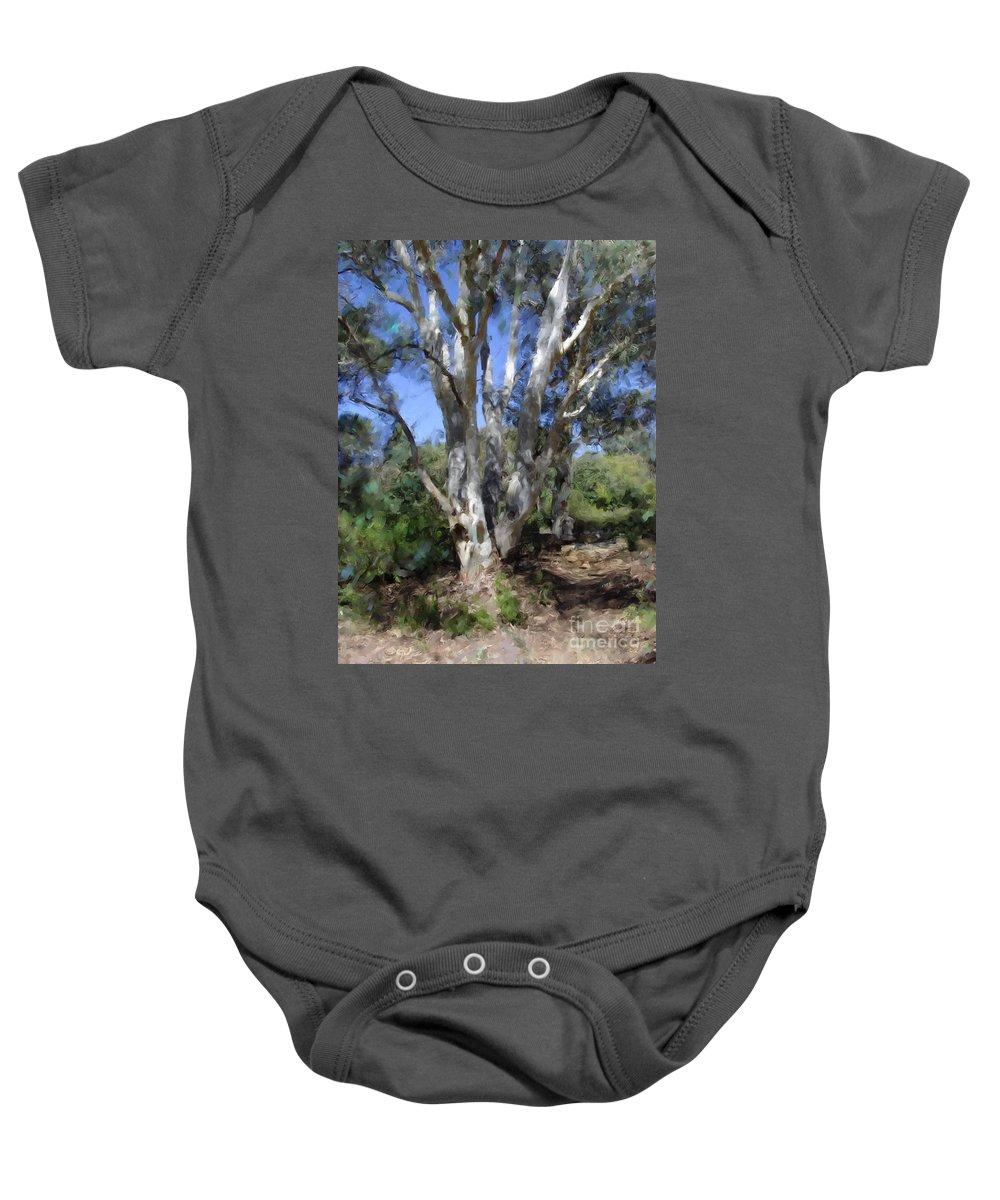 Australia Baby Onesie featuring the digital art Australian Native Tree 5 by Russell Kightley