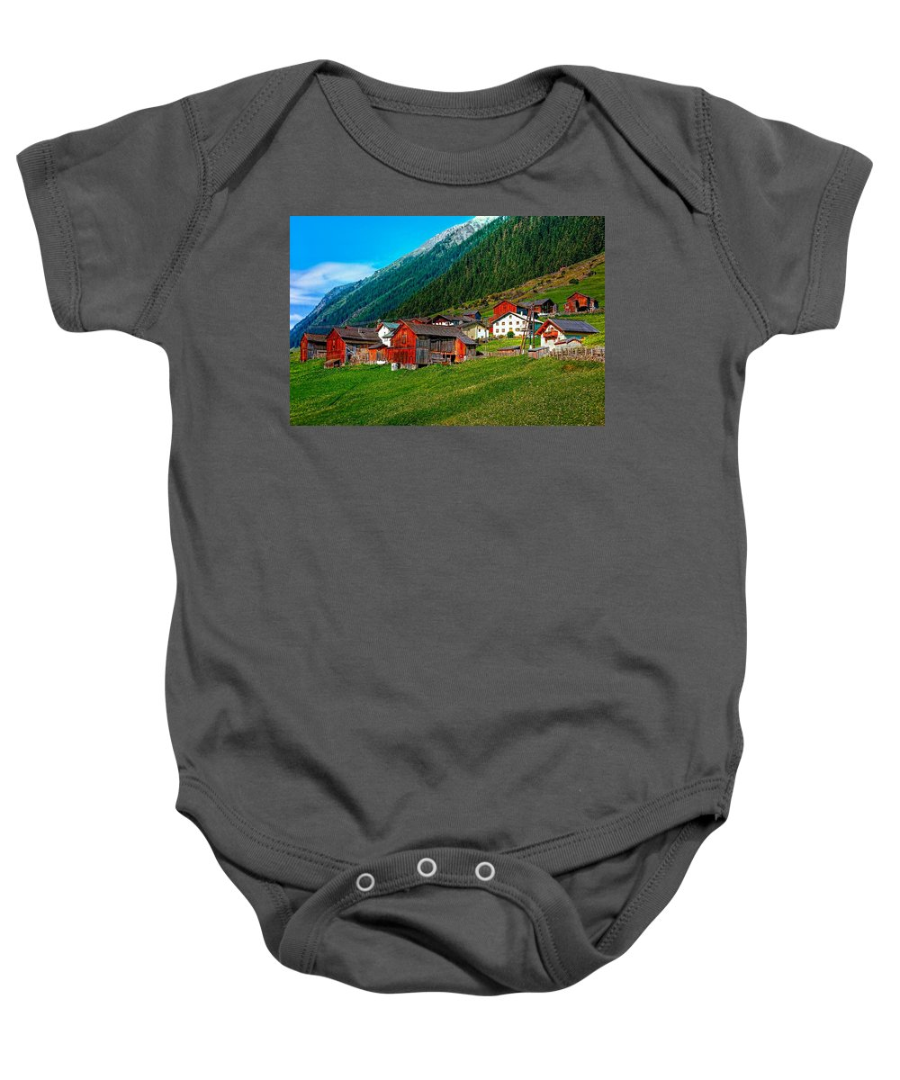 Austria Baby Onesie featuring the photograph Austrian Village by Steve Harrington