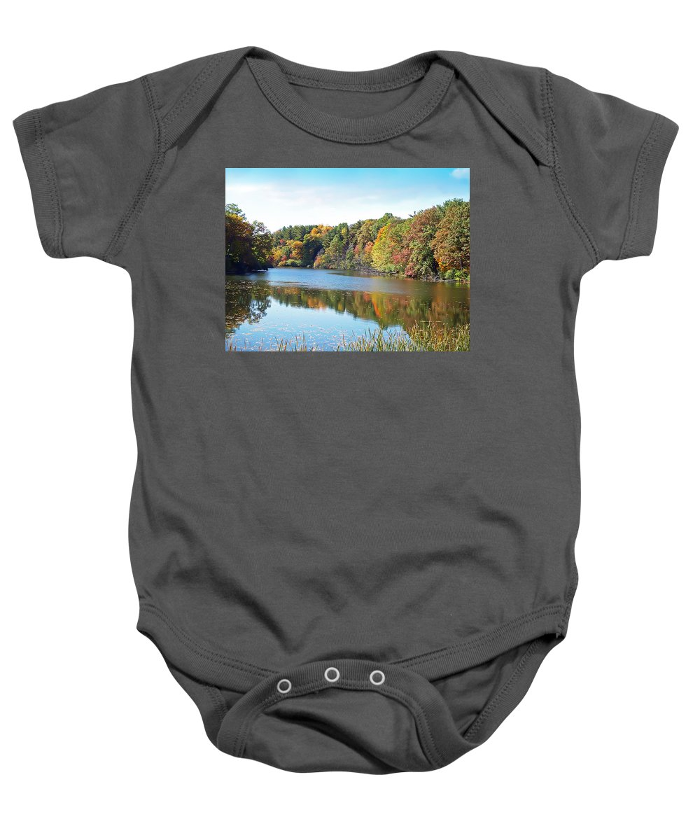 Durand Eastman Park Baby Onesie featuring the photograph Autumn At Durand by Aimee L Maher ALM GALLERY