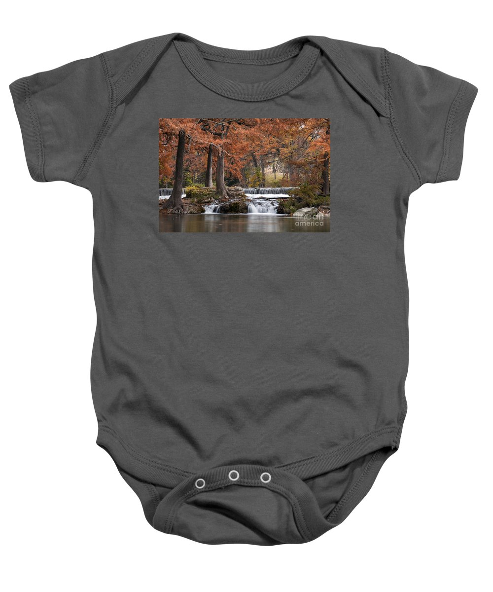 Hunt Baby Onesie featuring the photograph Autumn Idyll by Bob Phillips