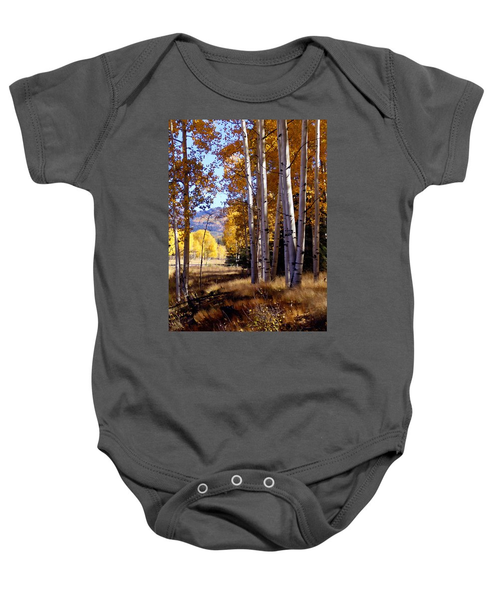 Trees Baby Onesie featuring the photograph Autumn Paint Chama New Mexico by Kurt Van Wagner