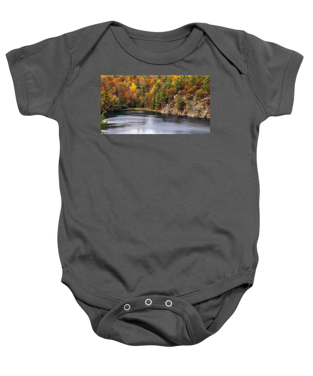 Autumn Baby Onesie featuring the photograph Autumn Palette by Joseph Yvon Cote