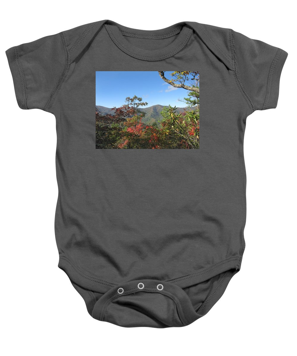 Great Smoky Mountains National Park Baby Onesie featuring the photograph Autumn Smoky Mountains by Melinda Fawver