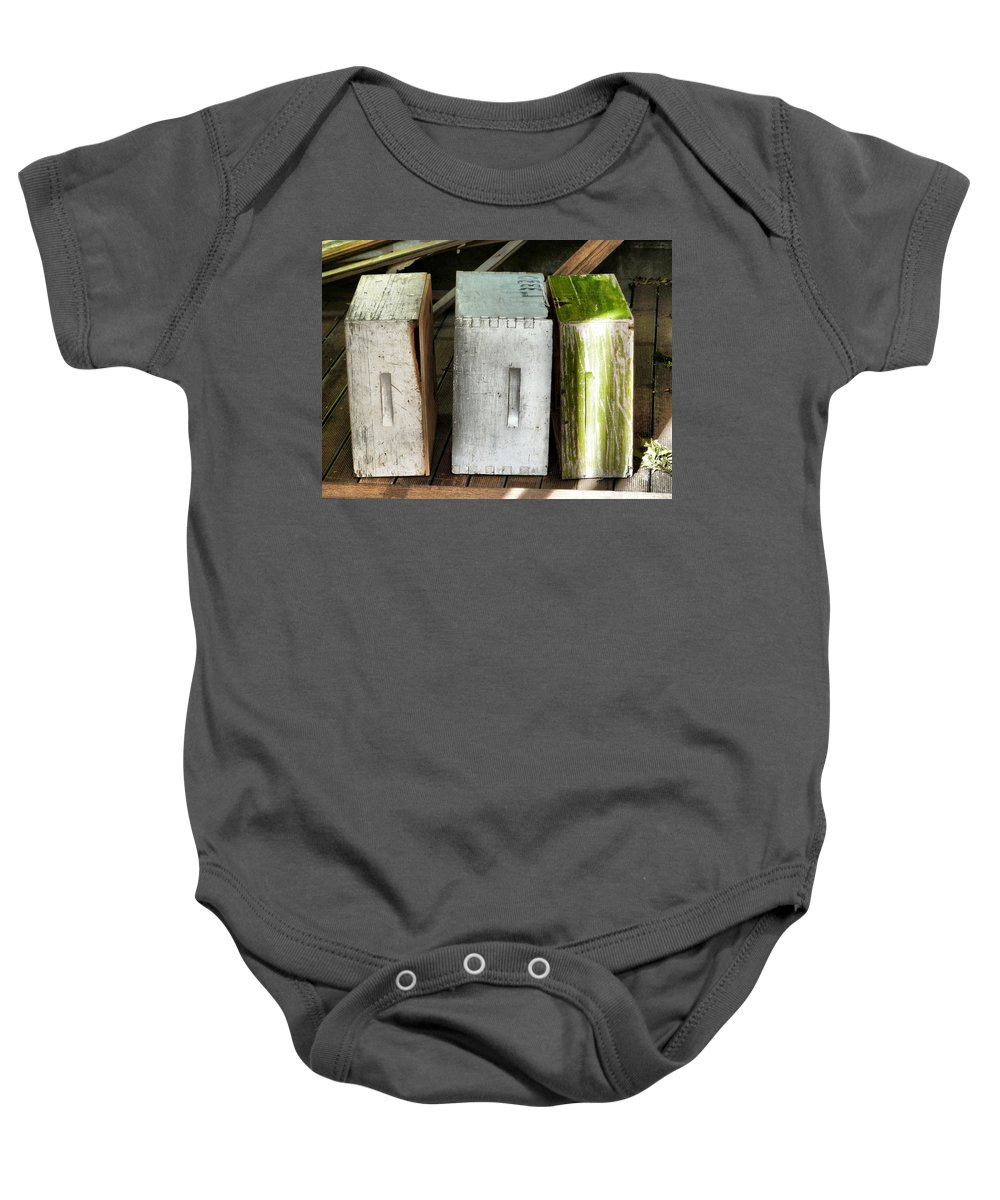 Cupboard Baby Onesie featuring the photograph Autumn Winter And Spring by Steve Taylor