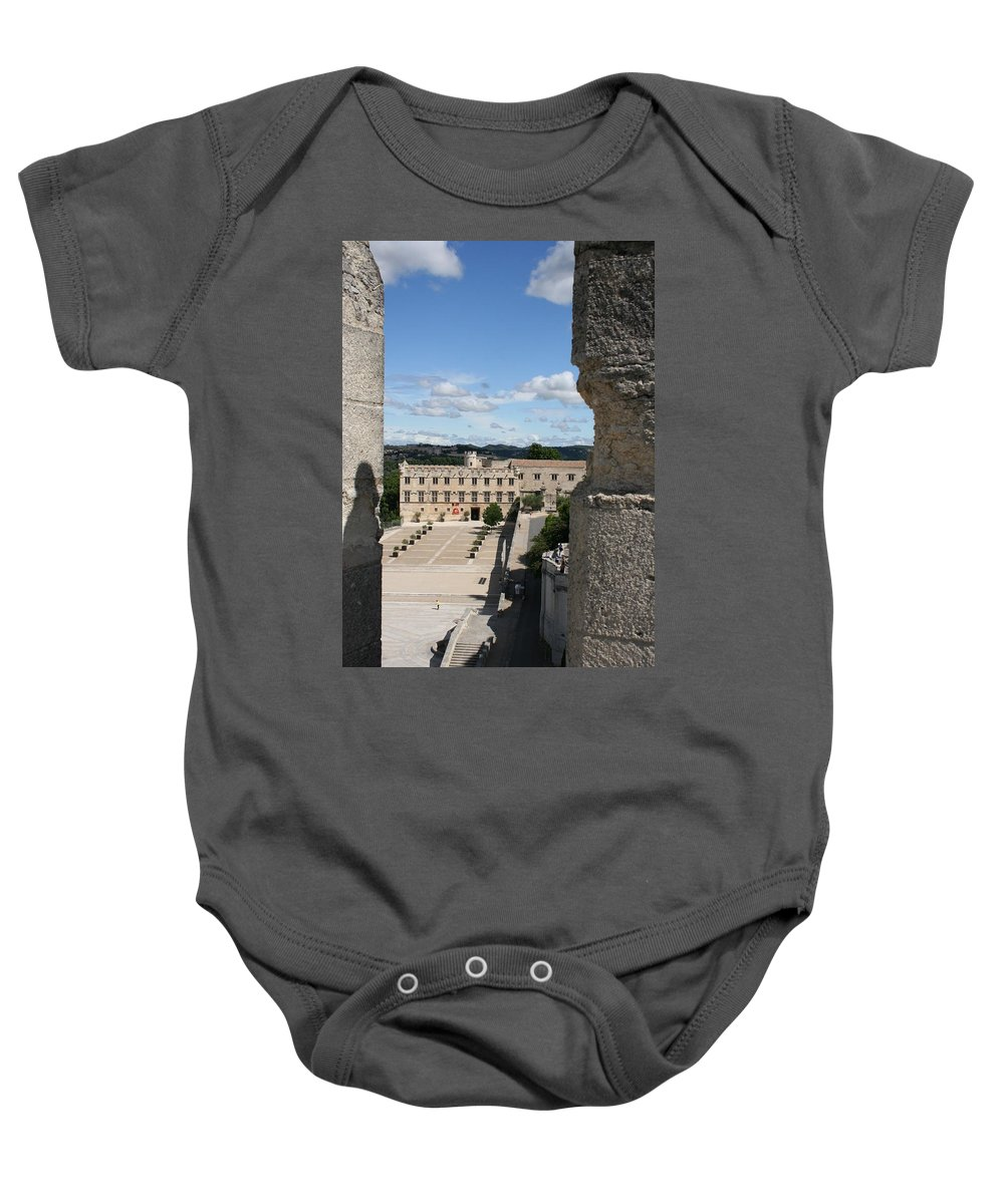 City Baby Onesie featuring the photograph Avigon View by Christiane Schulze Art And Photography