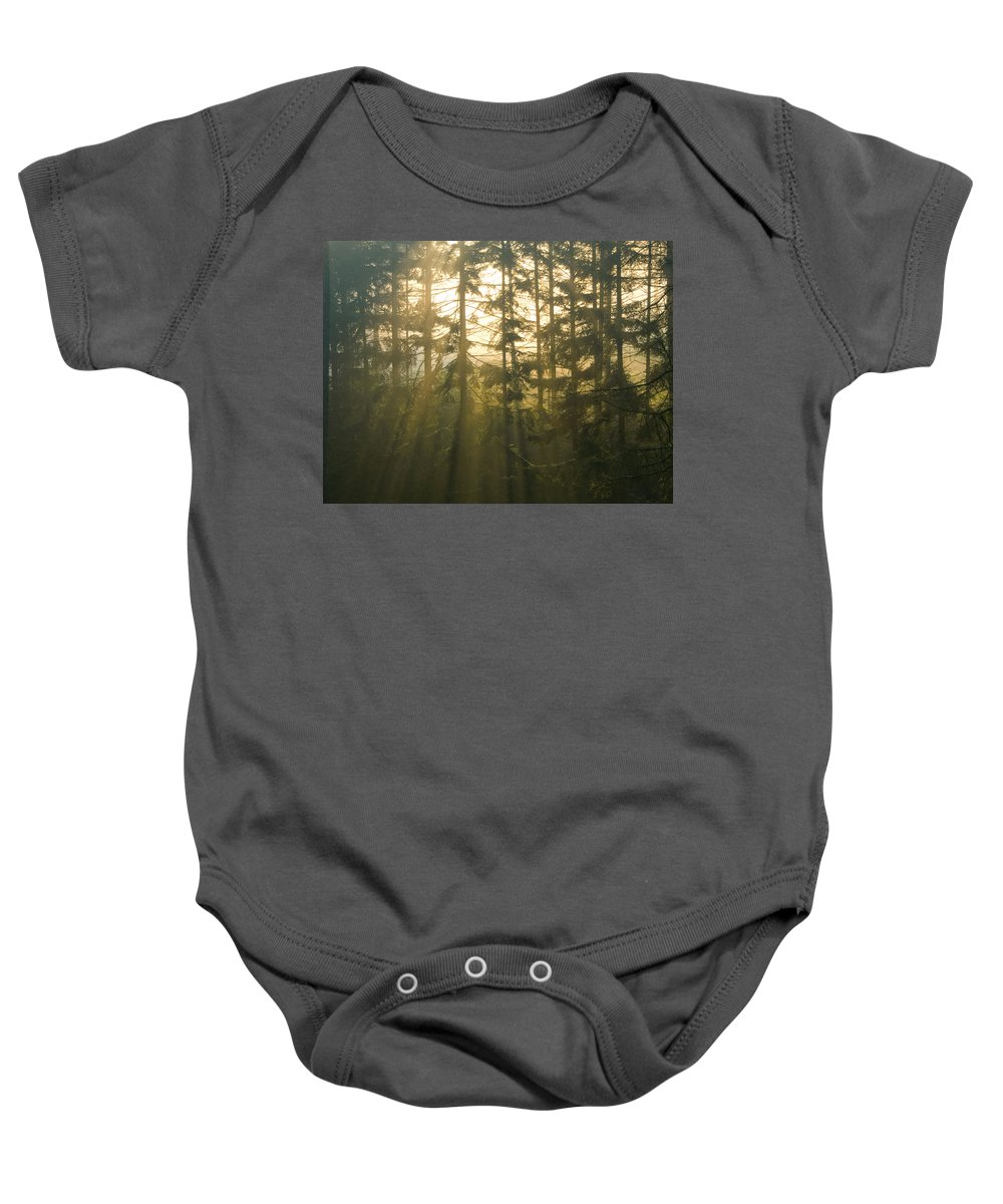 Light Baby Onesie featuring the photograph Awe by Daniel Csoka