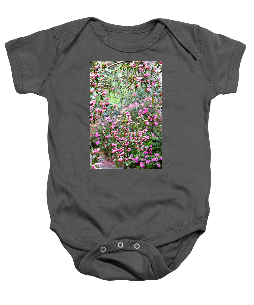 Azalea Baby Onesie featuring the photograph Azalea Heaven by Carol Groenen