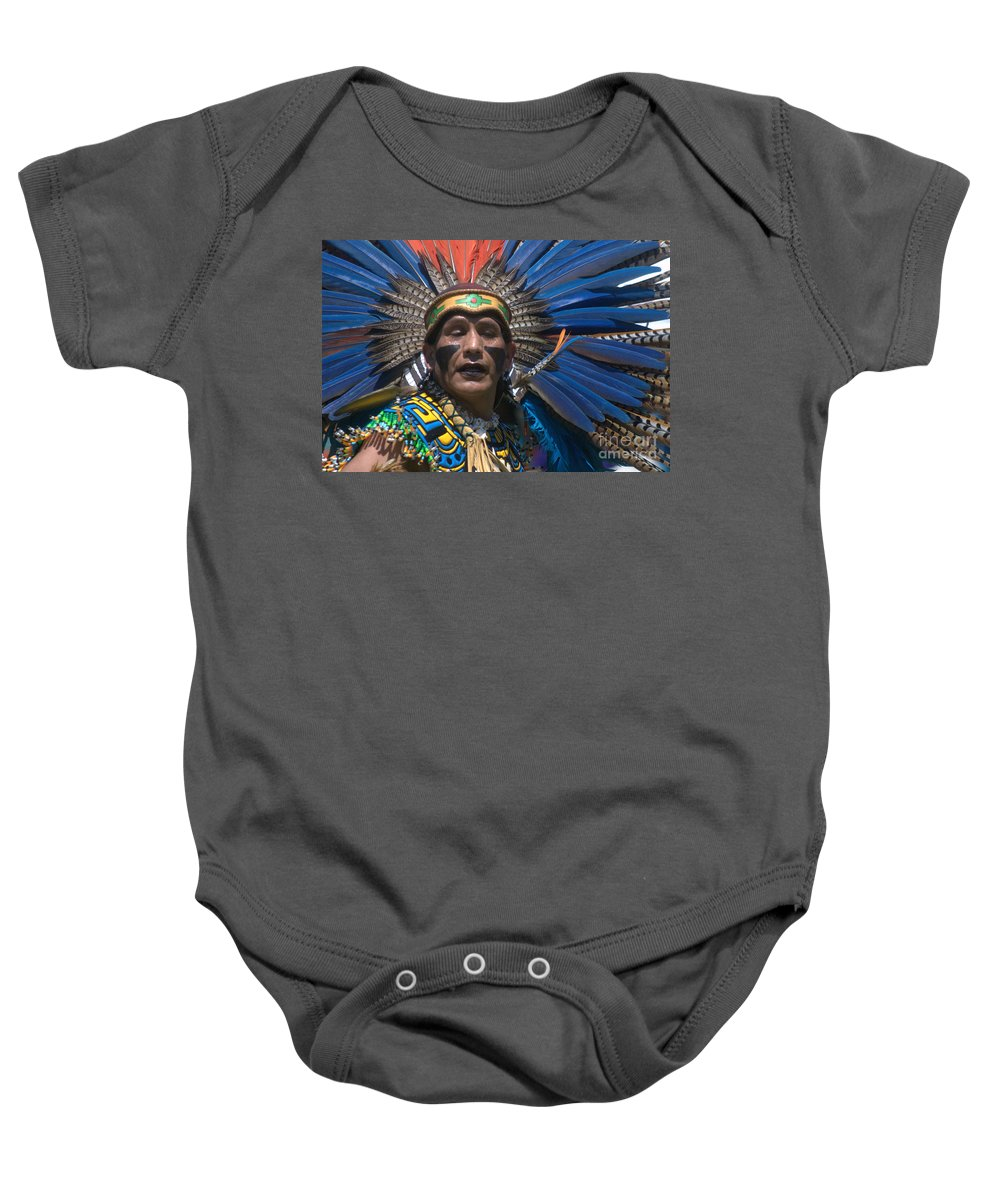 Aztec Baby Onesie featuring the photograph Aztec Dance by John Greco