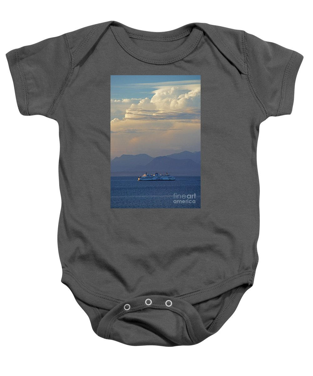 Ferries Baby Onesie featuring the photograph B C Ferries Sc3403-13 by Randy Harris