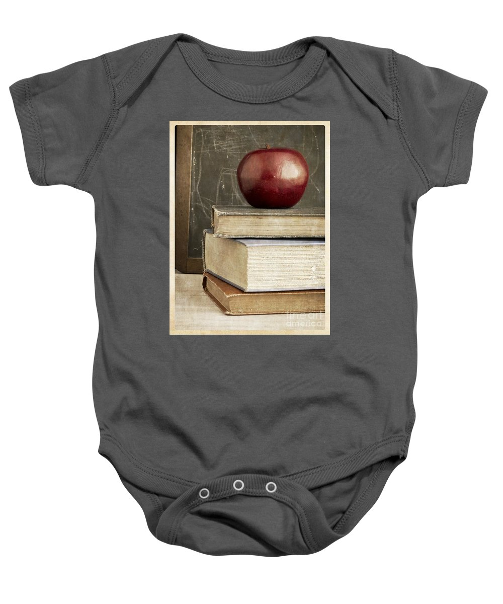Back Baby Onesie featuring the photograph Back To School Apple For Teacher by Edward Fielding