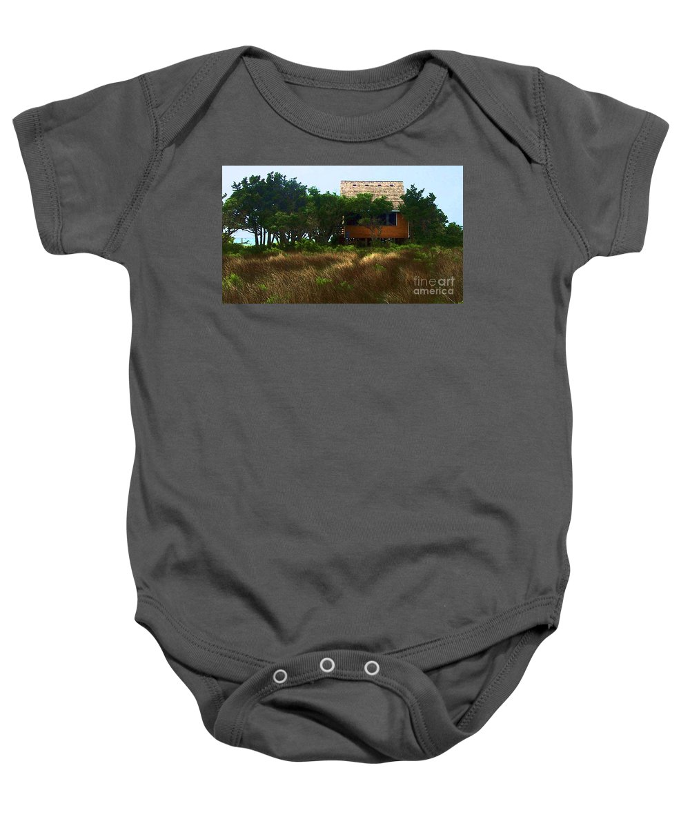 Beach Baby Onesie featuring the photograph Back To The Island by Debbi Granruth