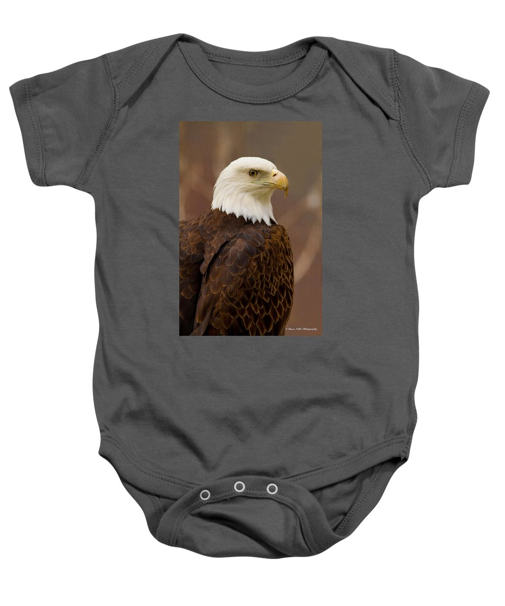 Birds Baby Onesie featuring the photograph Bald Eagle by Bruce Nikle