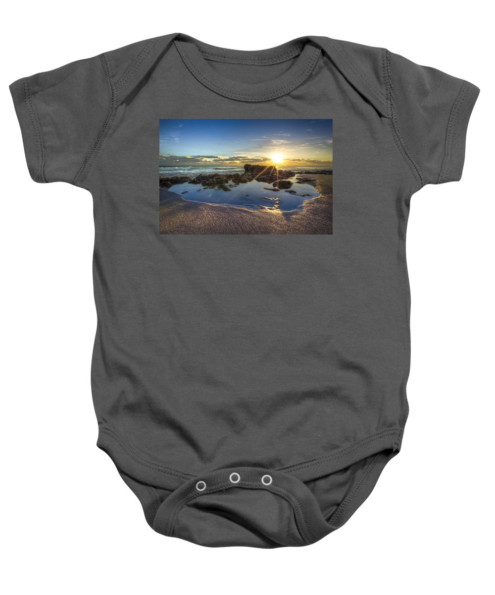 Clouds Baby Onesie featuring the photograph Baptism by Debra and Dave Vanderlaan