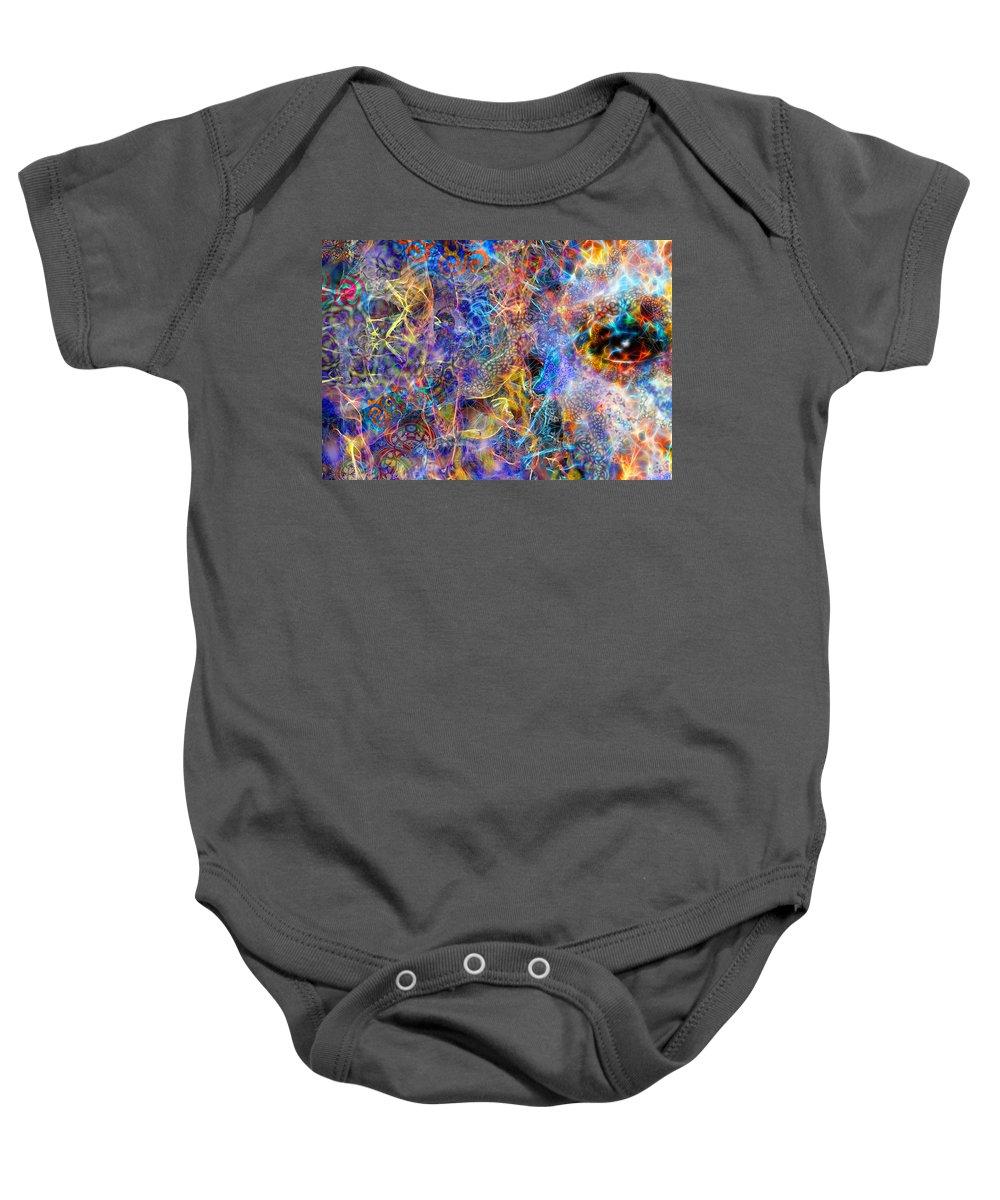 Baby Onesie featuring the digital art Bardo by D Walton