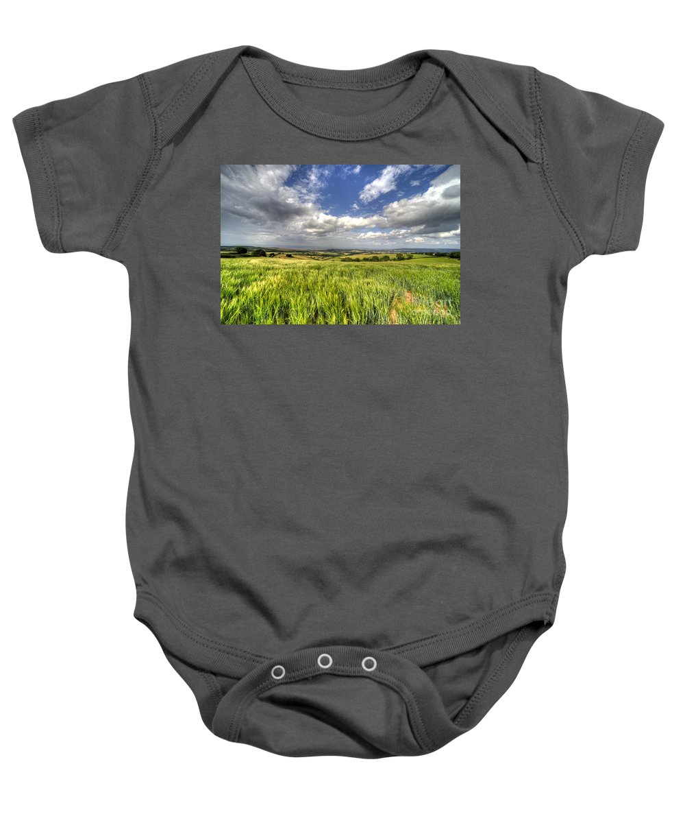 Barley Baby Onesie featuring the photograph Barley View by Rob Hawkins