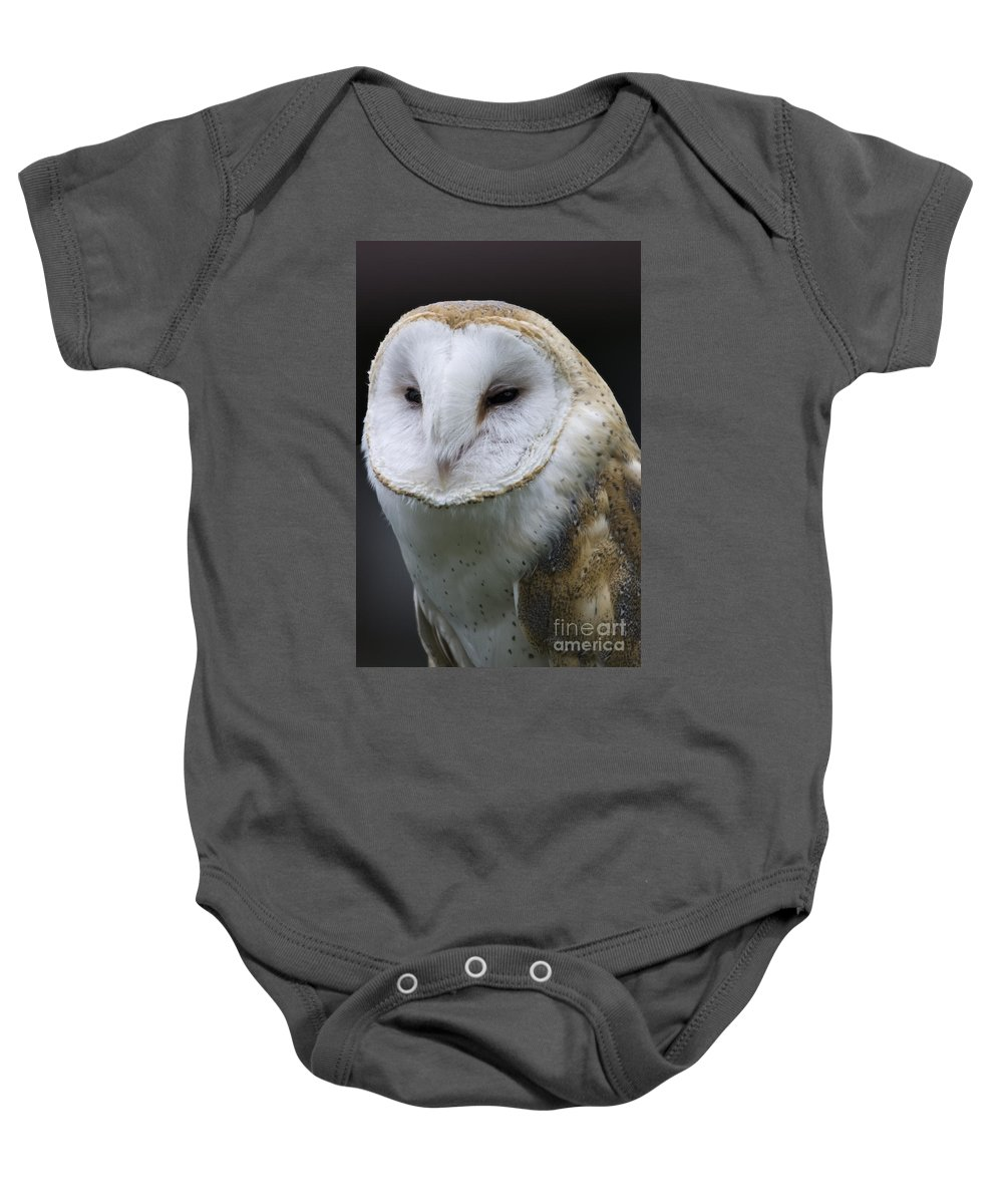 Barn Owl Baby Onesie featuring the photograph Barn Owl No.1 by John Greco