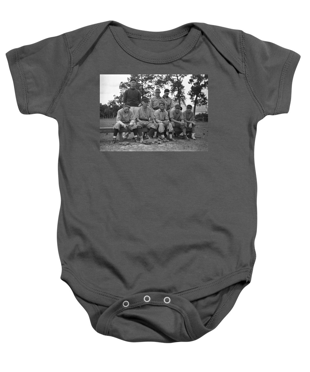 1938 Baby Onesie featuring the photograph Baseball Team, 1938 by Granger