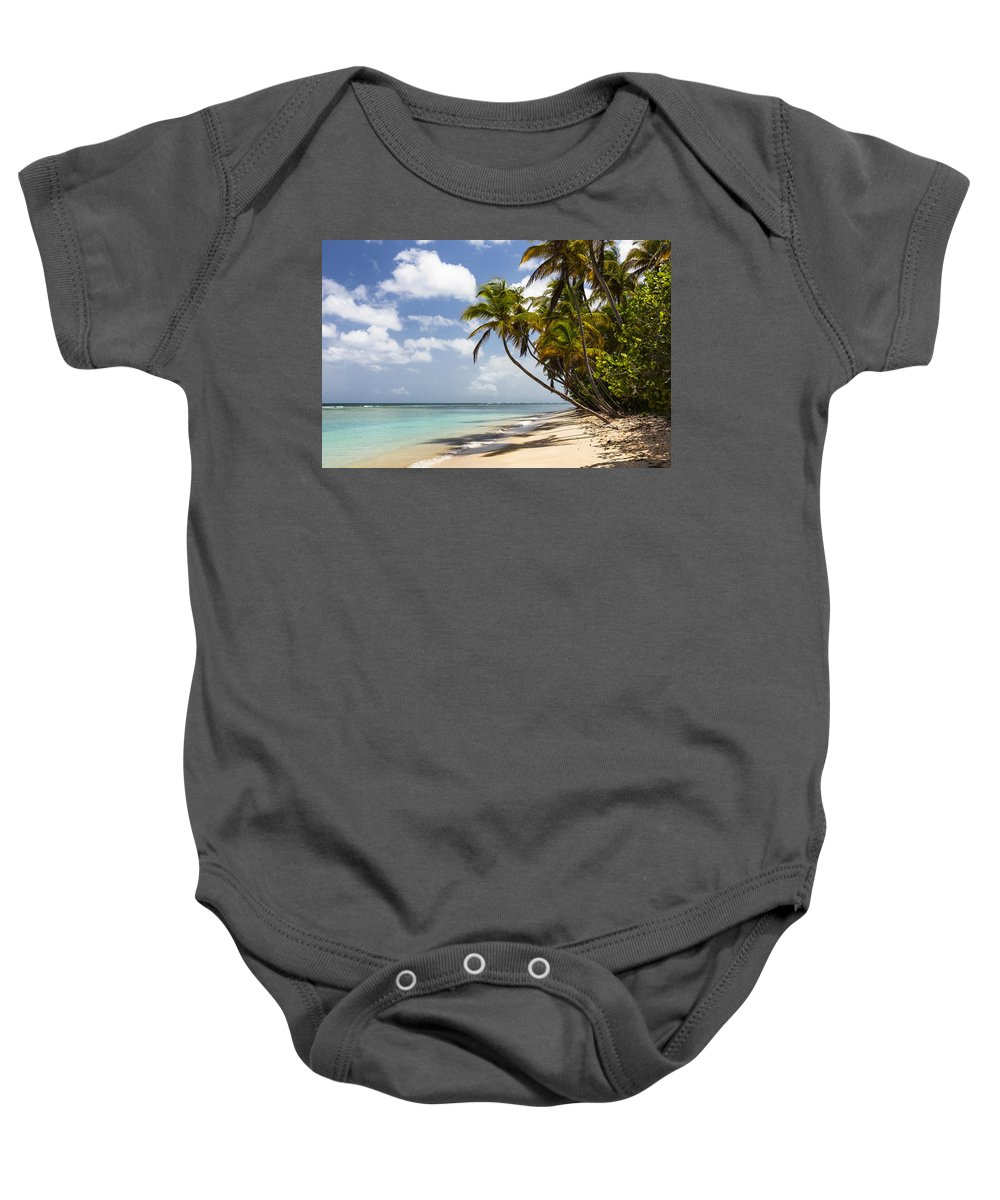 Konrad Wothe Baby Onesie featuring the photograph Beach Pigeon Point Tobago West Indies by Konrad Wothe