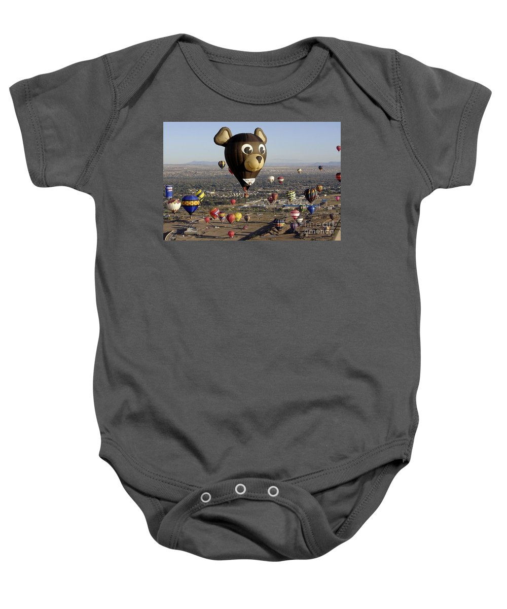 Albuquerque Baby Onesie featuring the photograph Bear by Mary Rogers