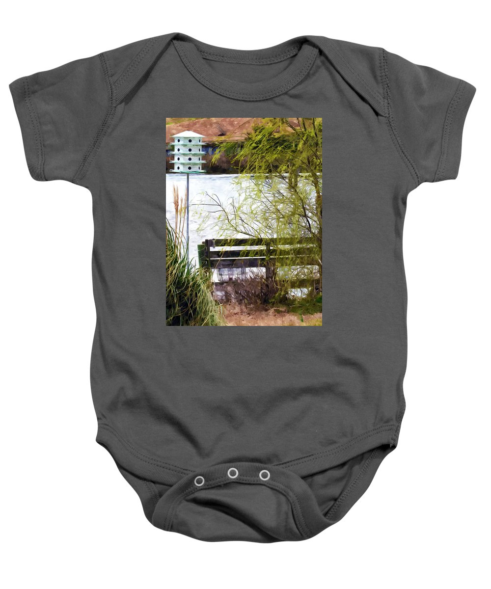 Swansboro Baby Onesie featuring the painting Beautiful Landscape by Jeelan Clark
