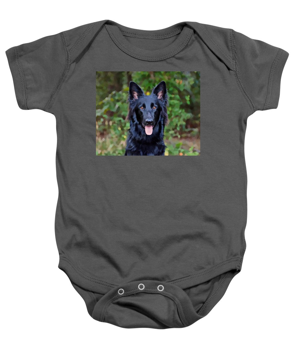 German Shepherd Baby Onesie featuring the photograph Beautiful Phoenix by Sandy Keeton