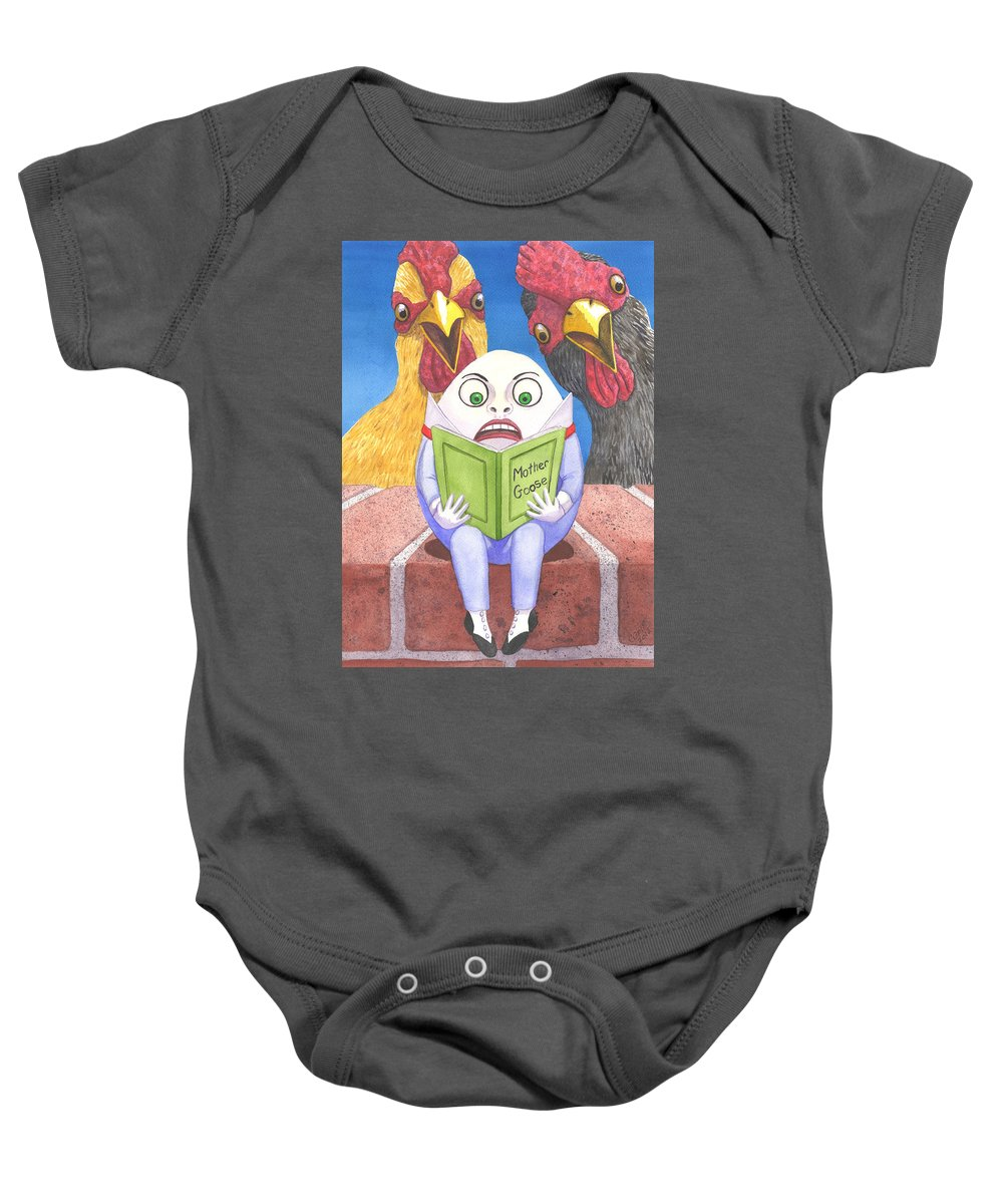 Egg Baby Onesie featuring the painting Before The Fall by Catherine G McElroy