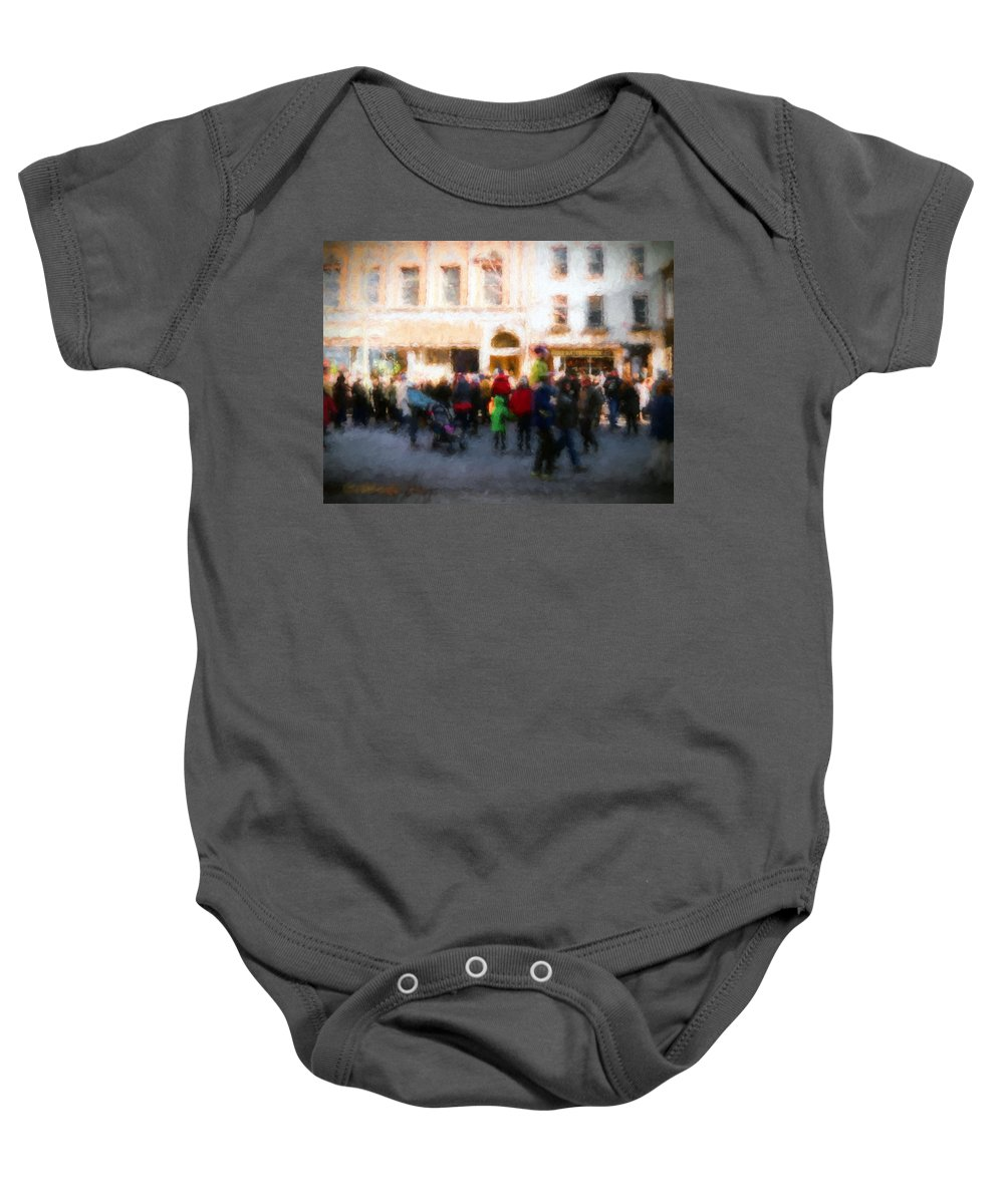 Troy Baby Onesie featuring the digital art Behind The Crowd by Tina Baxter