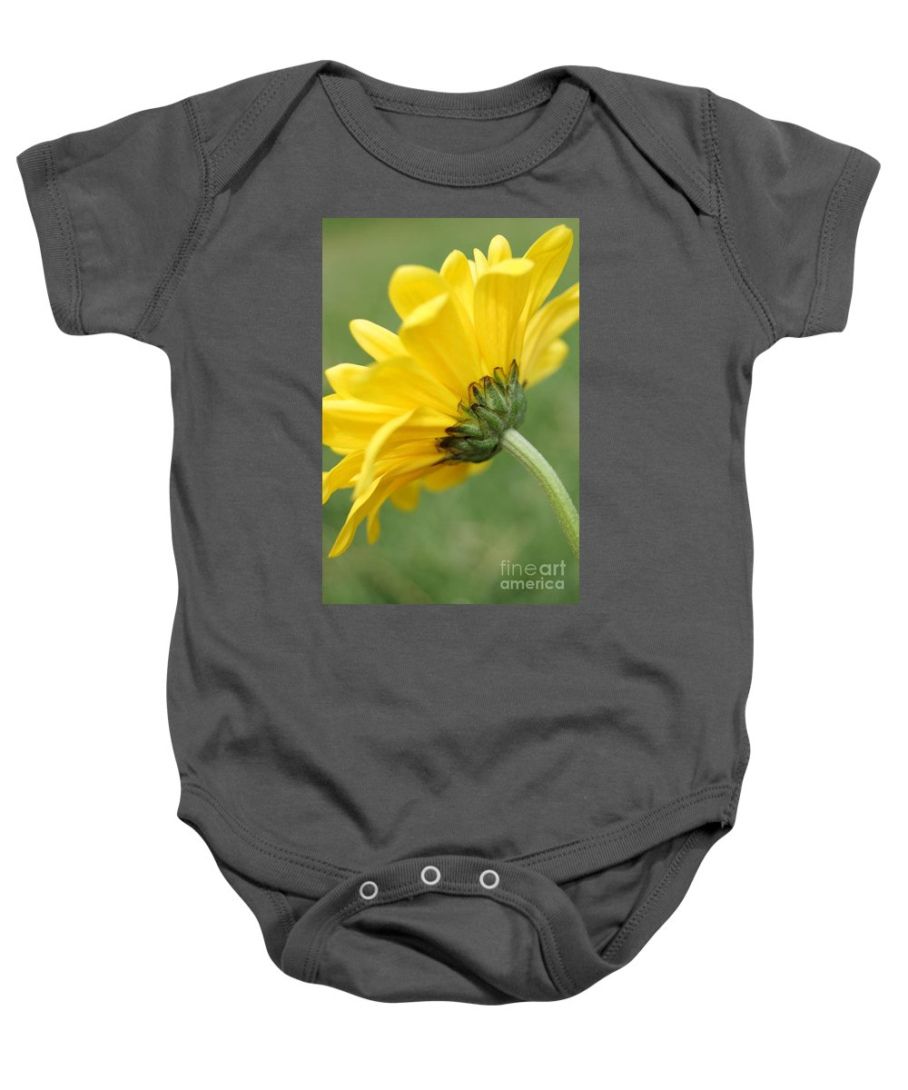 Flower Baby Onesie featuring the photograph Behind The Petals by Kerri Mortenson