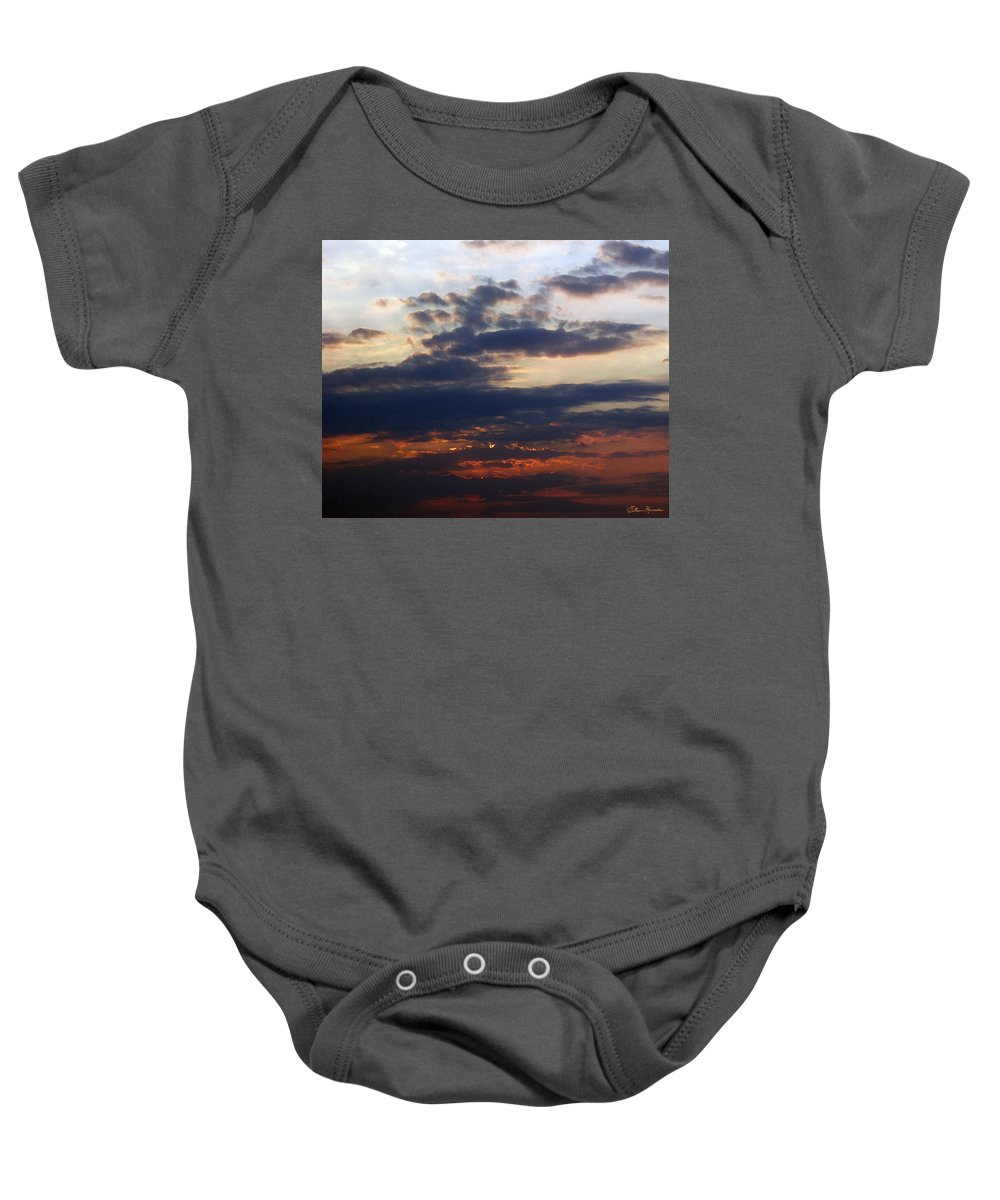 Behold The Dawn Baby Onesie featuring the painting Behold The Dawn by Ellen Henneke