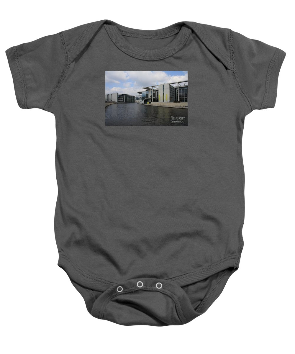 Government Building Baby Onesie featuring the photograph Berlin Government Building by Christiane Schulze Art And Photography