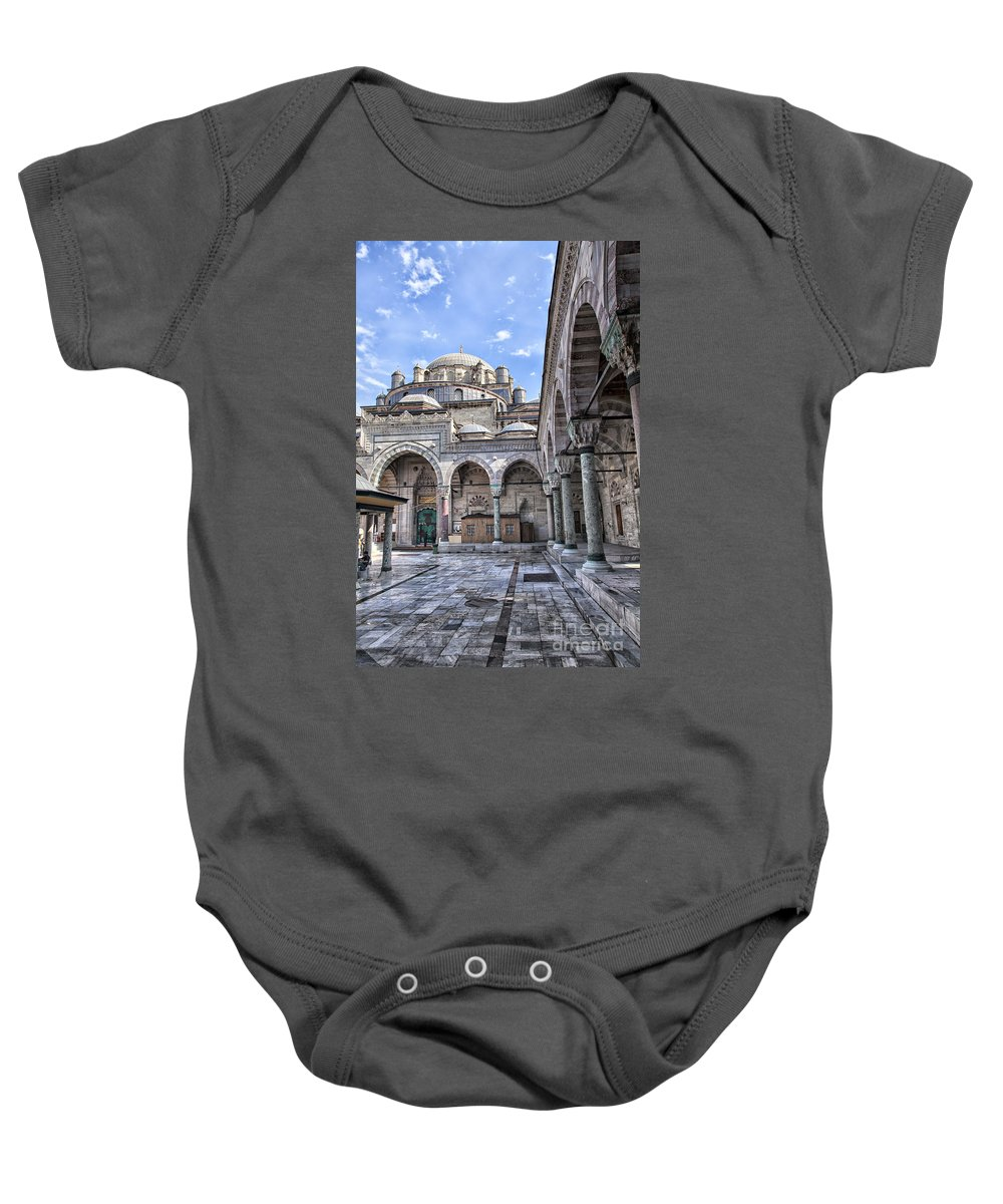 Middle East Baby Onesie featuring the photograph Beyazit Camii Mosque by Sophie McAulay