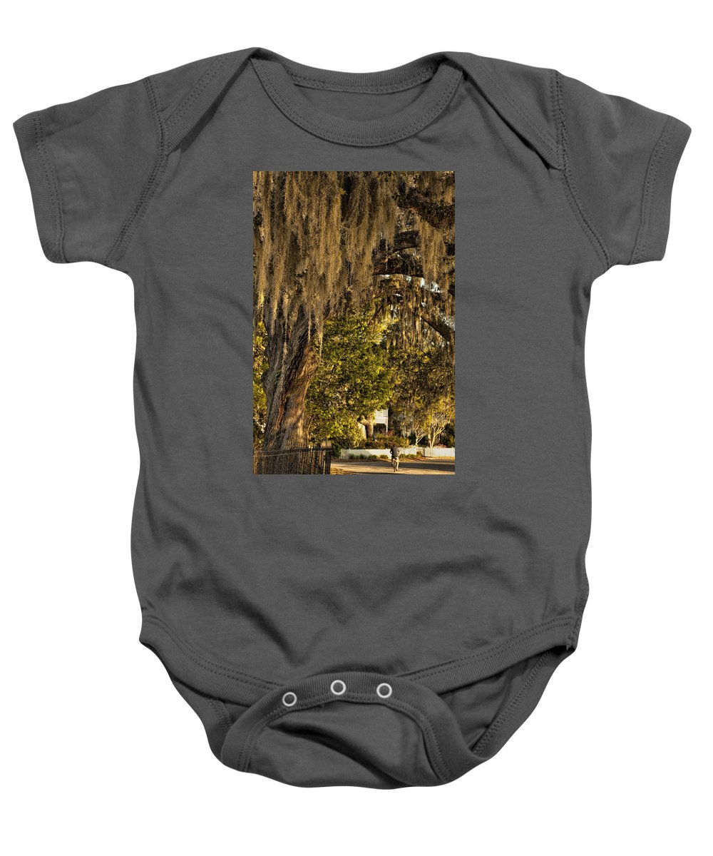 Tybee Island Baby Onesie featuring the photograph Bicycle Ride by Diana Powell