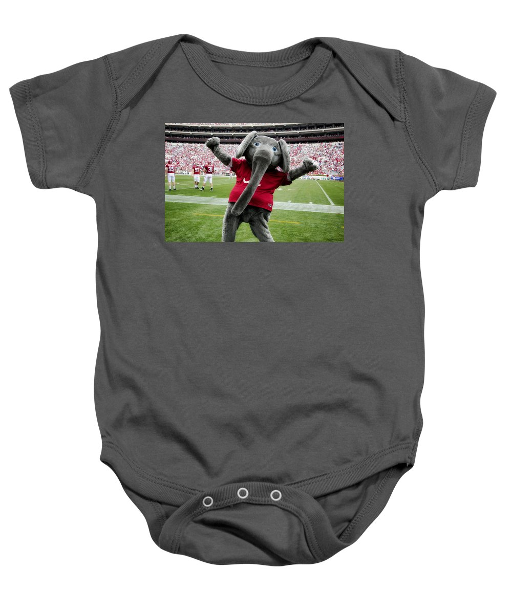 Alabama Baby Onesie featuring the photograph Big Al by Mountain Dreams