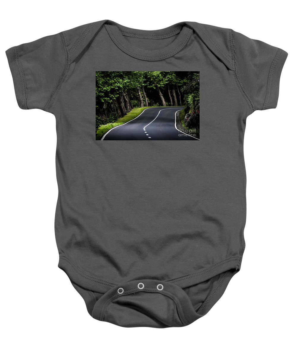 Road Baby Onesie featuring the photograph Big Road by Edgar Laureano