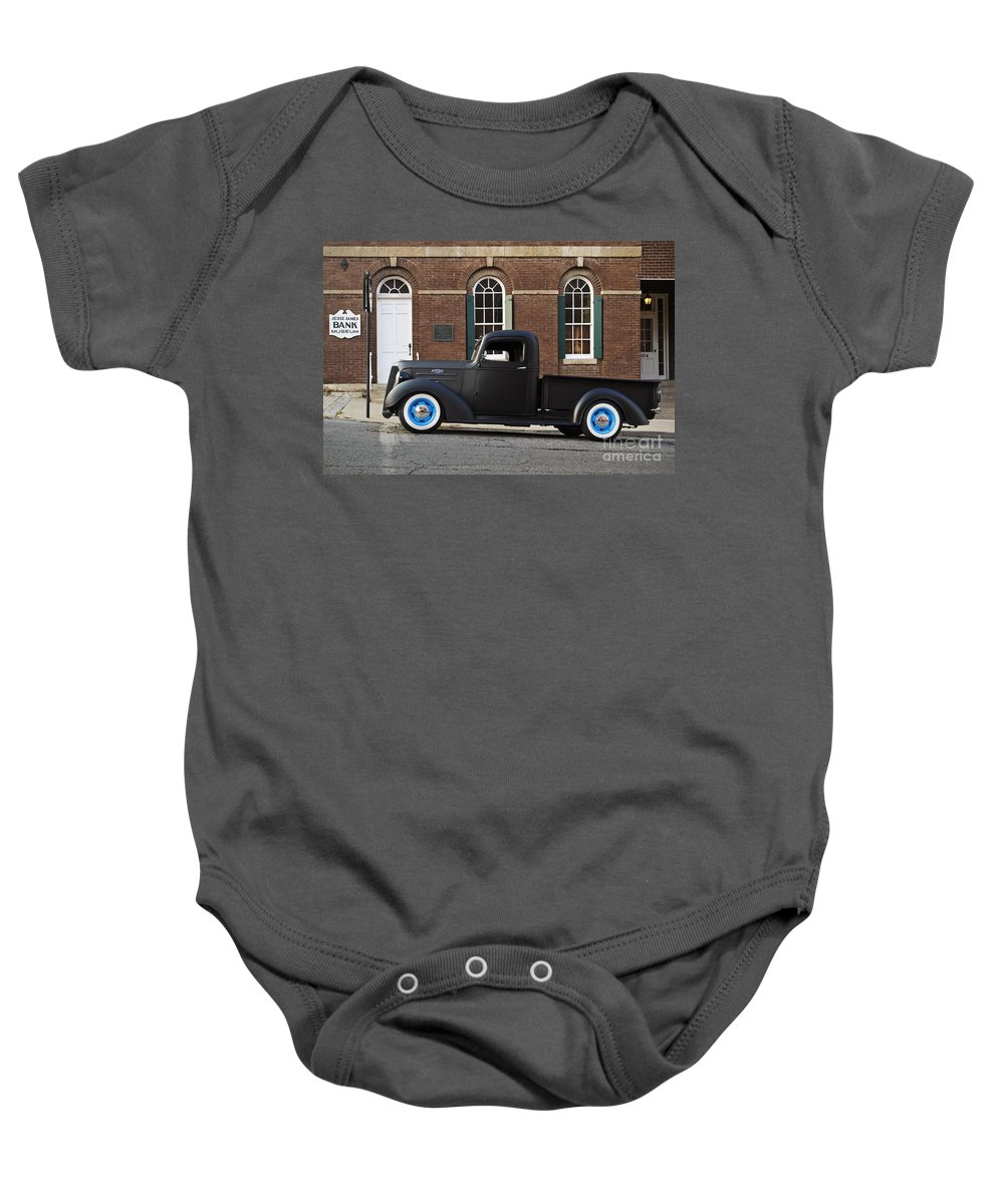 Transportation Baby Onesie featuring the photograph Black And Blue by Dennis Hedberg