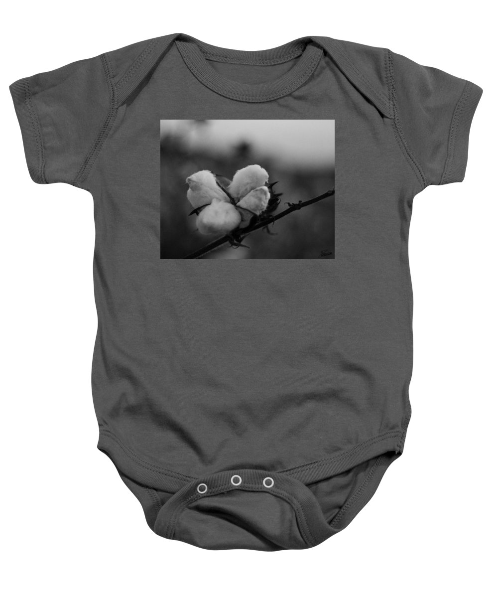 Ag Baby Onesie featuring the photograph Black And White Boll by David Zarecor