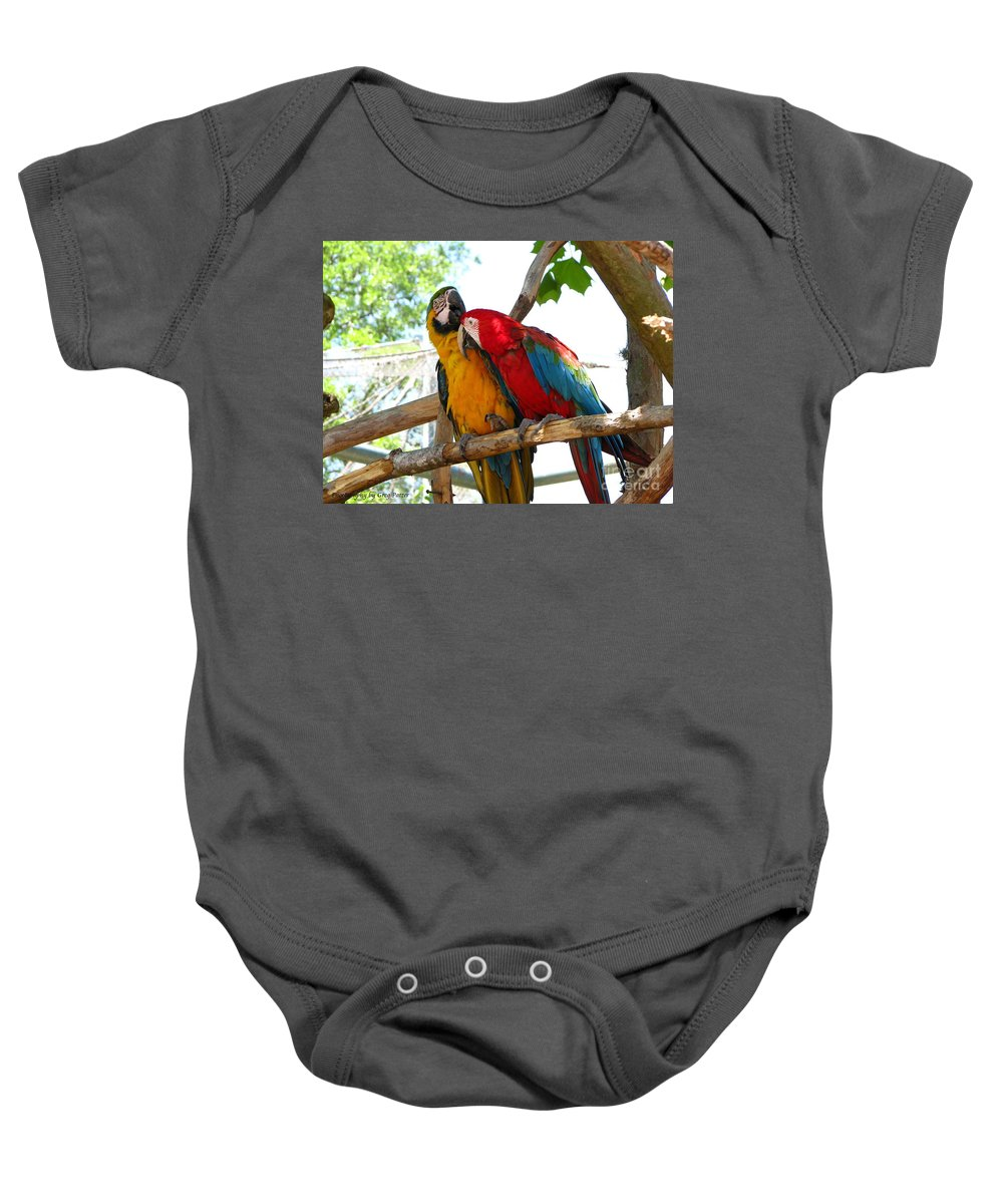 Patzer Baby Onesie featuring the photograph Blue And Gold by Greg Patzer