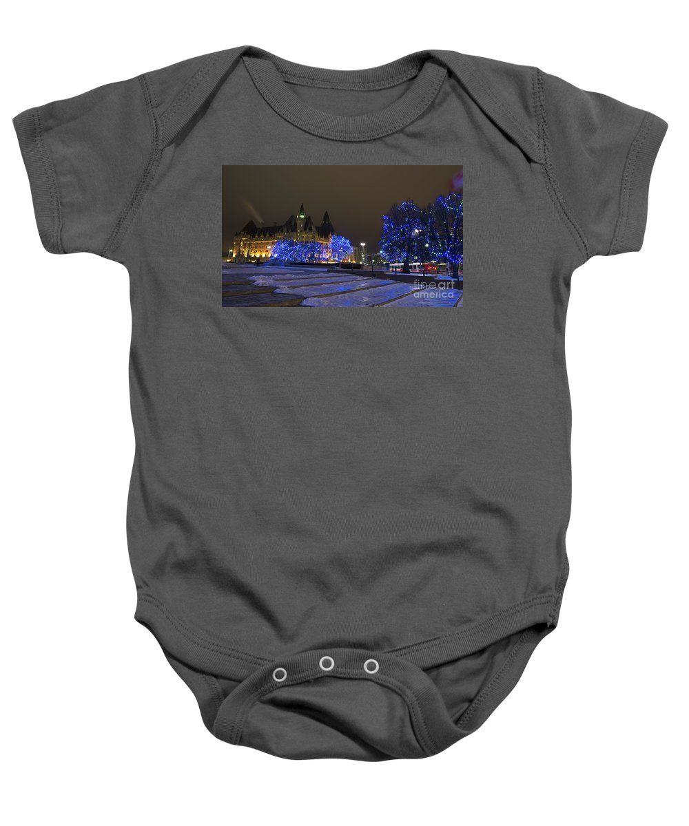 Nina Stavlund Baby Onesie featuring the photograph Blue Christmas.. by Nina Stavlund