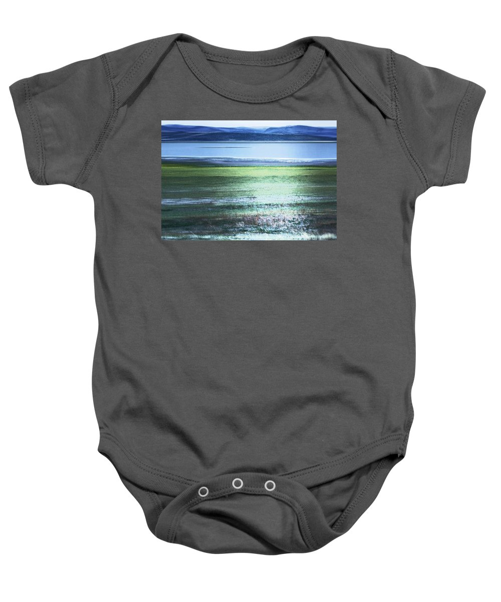 Landscape Baby Onesie featuring the photograph Blue Green Landscape by Belinda Greb
