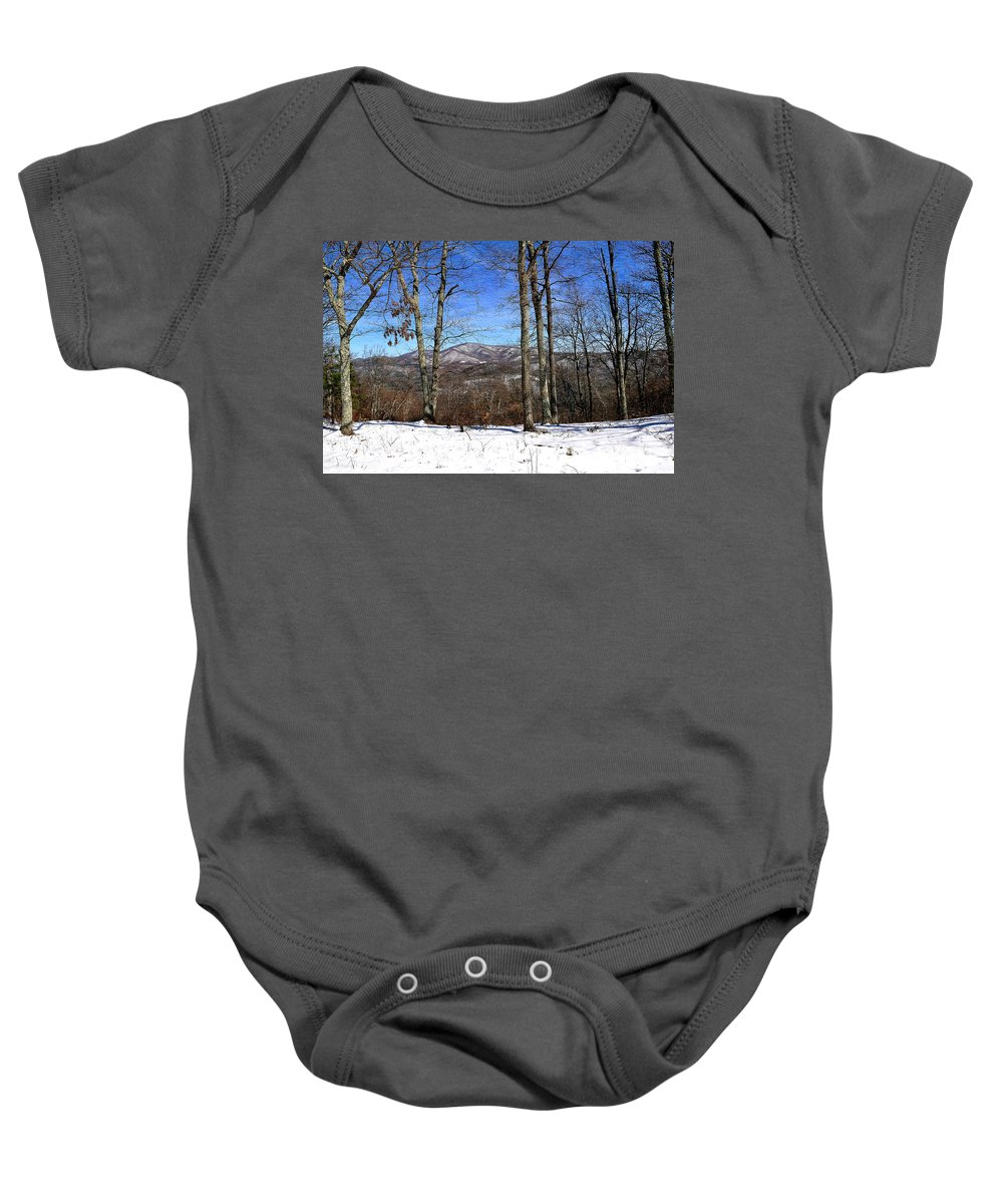 Blue Ridge Mountains Baby Onesie featuring the photograph Blue Ridge Mountains by Todd Hostetter