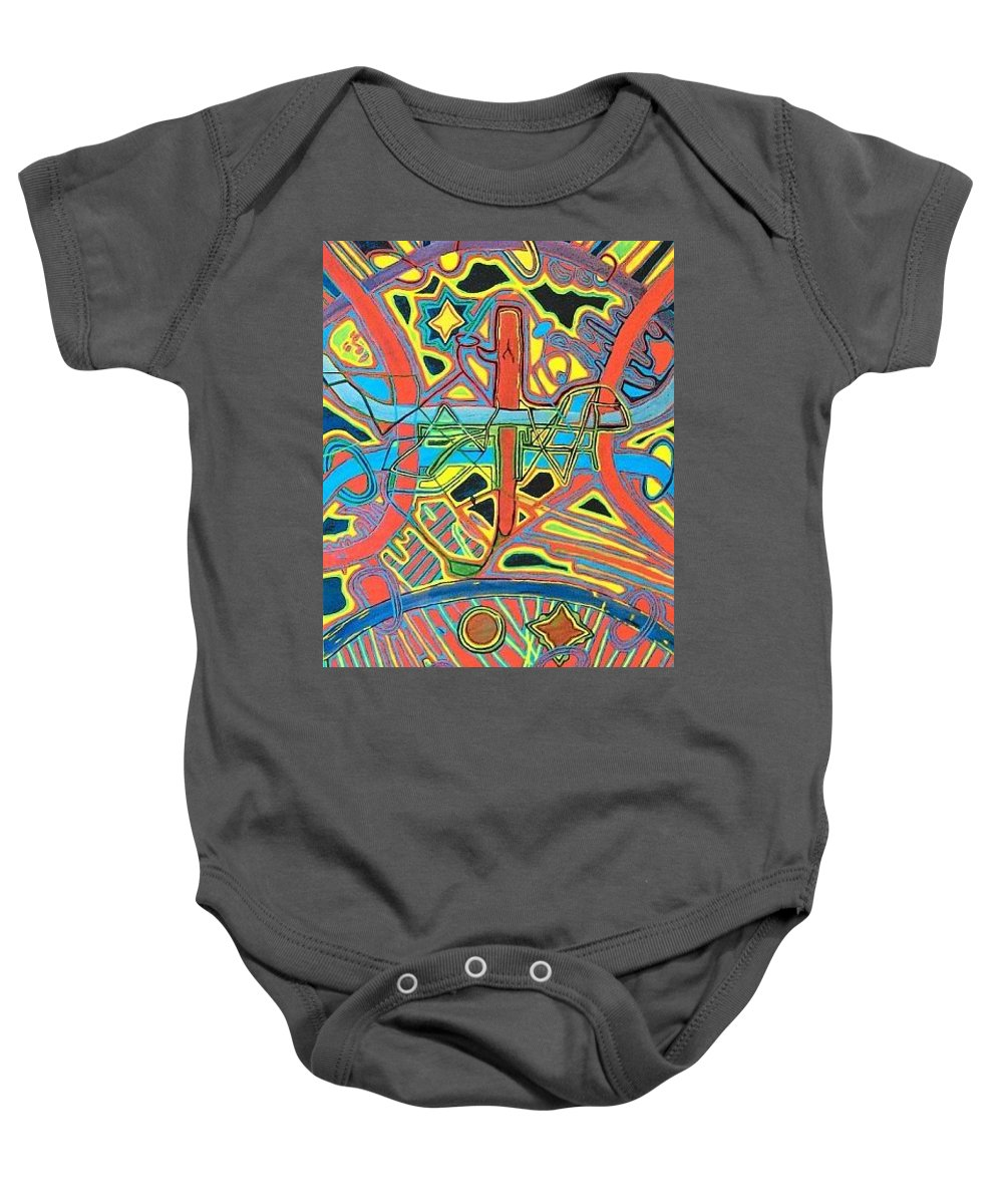 Trending Baby Onesie featuring the painting Blueberry Eclipse by Jonathon Hansen