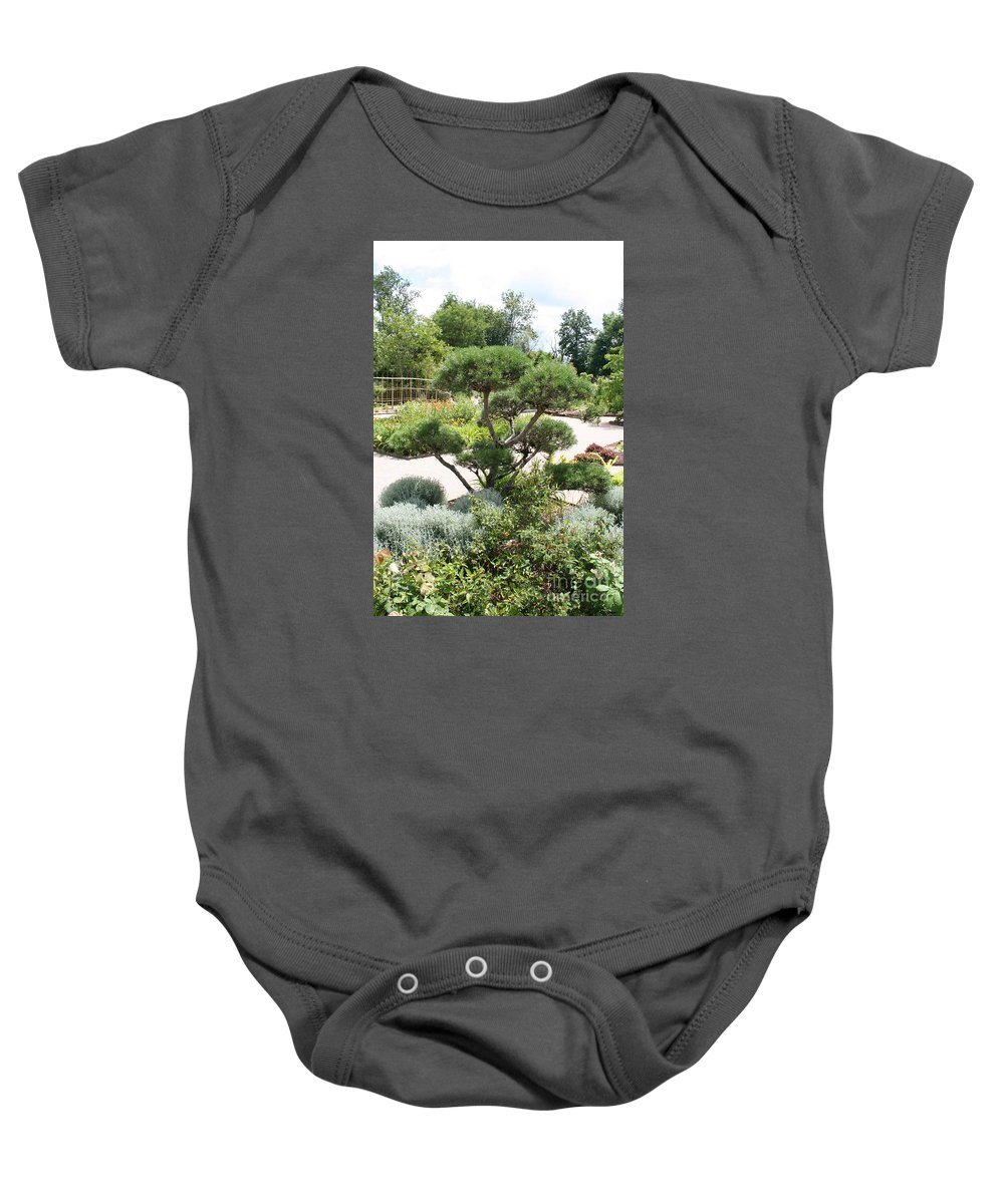 Bonsai Baby Onesie featuring the photograph Bonsai In The Park by Christiane Schulze Art And Photography